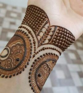 Easy Bangle Mehndi Design Tutorial Trick for Front Hand