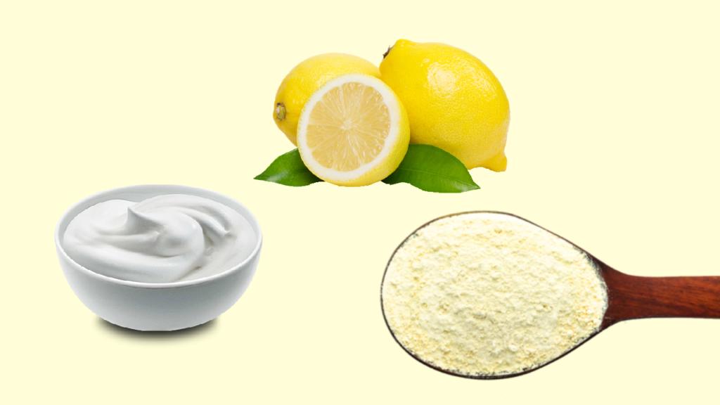 सूखी त्वचा के लिए नींबू का रस और दही का फेस पैक