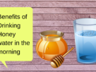 Benefits of Drinking Honey water in the morning