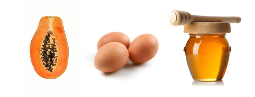 Egg, Papaya facial mask