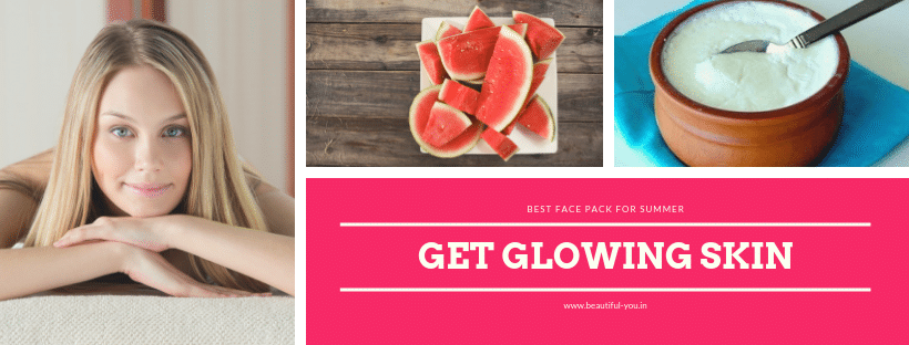 Watermelon face mask for glowing skin