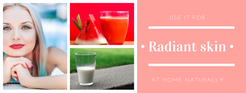 Watermelon face mask for radiant skin