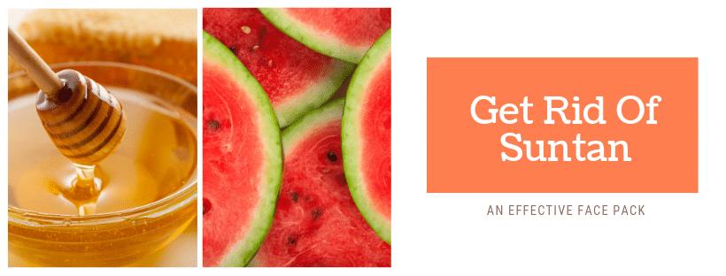 Watermelon face mask for suntan