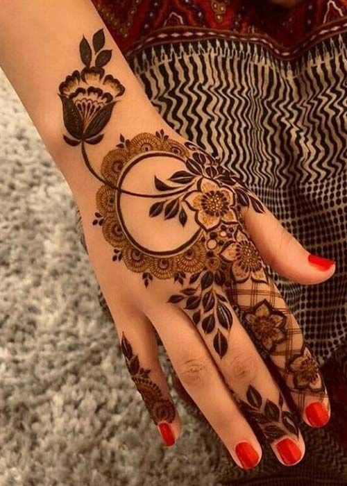 Indo- Arabic Attractive henna Design