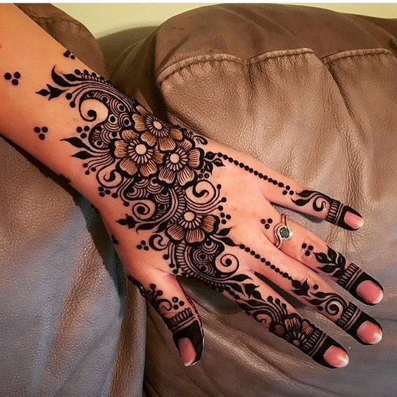 Mixed Best Arabic henna Design
