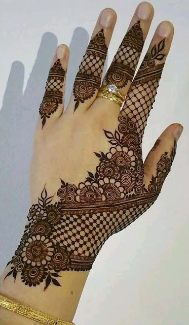 Net Pattern Mehndi Design Attractive and Stylish